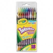 CRAYOLA TWIST COLORED PENCLS 18