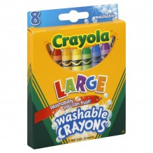 CRAYOLA WASH 8CT LG KIDS FIRST