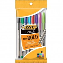 BIC/PEN CRYSTL BOLD COLORS 8CT
