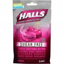 HALLS SUG/FREE 25'S 12/BX CHERY