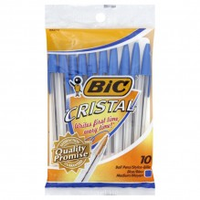 BIC/PEN STIC CRYSTL BLUE MD 10S