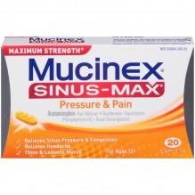MUCINEX SINUS MAX PAIN/PRESH 20