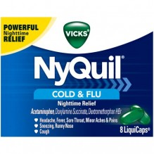 NYQUIL LIQUCAPS 8CT COLD&FLU