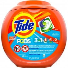 TIDE PODS 42CT CLEAN BREEZE