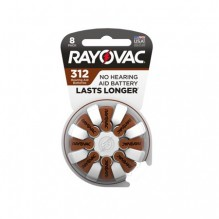 RAYOVAC H/A BATTERY #312 8CT