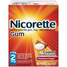 NICORETTE GUM 2MG. 100CT CINN