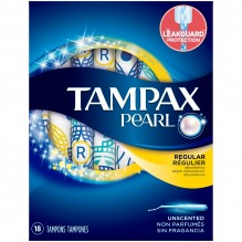 TAMPAX PEARL 18'S REG UNSCNT