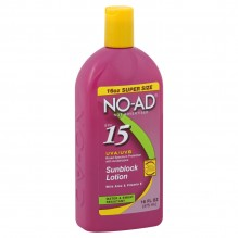 NO-AD SUNSCREEN LOT SFP15 16OZ