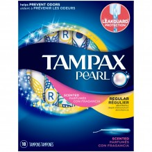 TAMPAX PEARL 18'S REG FRSH SCNT