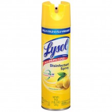 LYSOL SPRAY 19OZ LEMON