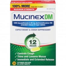 MUCINEX DM M/S 28 CT