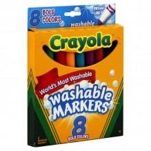 CRAYOLA WASHBLE BRD BOLD CLR8CT