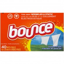 BOUNCE SHEETS OUTDOOR FRSH 40CT