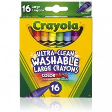 CRAYOLA JUMBO WASHABLE 16CT
