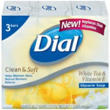 DIAL SOAP 4 OZ 18/3P WH TEA VIT