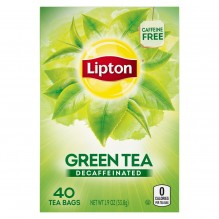 LIPTON DECAF GREEN TEA BAGS 40C