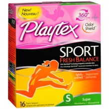 PLAYTEX SPORT 16CT SUPER SCNTD
