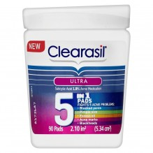 CLEARASIL ULT 5IN1 FACE PADS 90