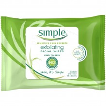 SIMPLE CLEANS WIPES 25CT EXFOLT