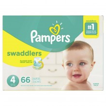 PAMPERS SWADDLER SZE 4 SUP 66CT