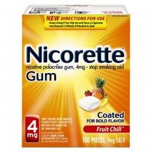 NICORETTE GUM 4MG 100CT FRT CHL