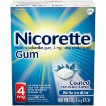 NICORETTE GUM 4MG 100CT WHT ICE