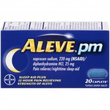 ALEVE PM CAPLETS 20 CT