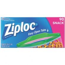 ZIPLOC SNACK BAGS 90CT