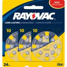 RAYOVAC H/A BATTERIES #10 24CT