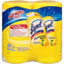 LYSOL DUAL WIPES CITRUS 2/80CT