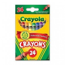 CRAYOLA CRAYONS 24 CT