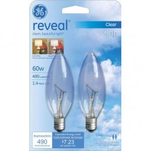 GE BULB 60W REVEAL BLNT S/M2CT