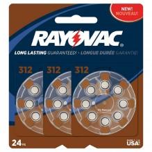 RAYOVC H/A BATTERIES 312 24PK