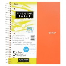 MEAD 5 STAR 5 SUBJECT NOTEBOOK