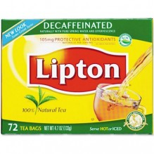 LIPTON DECAF TEA BAGS 75 CT