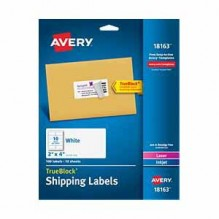 AVERY WHITE LABEL 100 CT