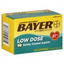 BAYER TABS 81MG LO-DOSE 120CT