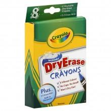CRAYOLA DRY ERASE CRAYON 8CT
