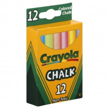 CRAYOLA CHALK STICKS COLORED 12
