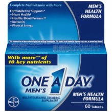 ONE A DAY MEN HLTH FORMLA 60 CT