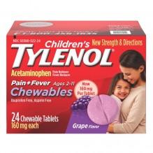 TYLENOL CHLD PAIN+FVR GRAPE 24S