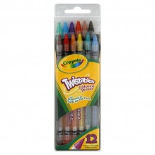 CRAYOLA TWIST PENCIL 12CT