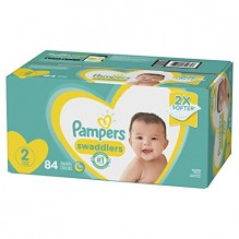 PAMPERS SWADDLER SZE 2 SUP 84CT