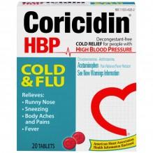 CORICIDIN HBP COLD N FLU 20 CT