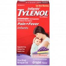 TYLENOL INFANT DROPS GRAPE 1 OZ