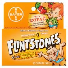 FLINTSTONES PLUS IMMUNITY 60'S