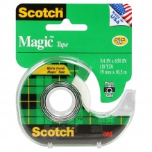 SCOTCH MAGIC TAPE #122 3/4X650