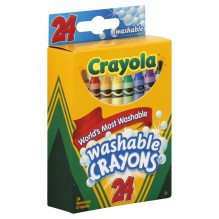 CRAYOLA WASHABLE 24 CT NON/TOXC