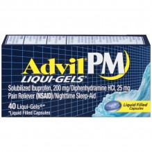 ADVIL PM LIQUID GELS 40CT
