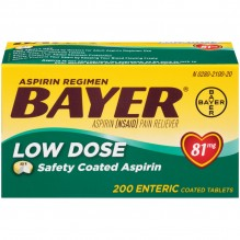 BAYER 81 MG ENTERIC 200'S
